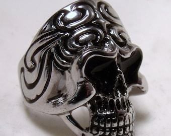 Sterling Silver Skull Ring RF084