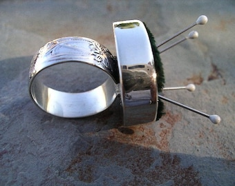 Pincushion Ring Sterling Silver RF290