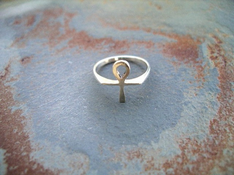 Ankh Ring  Sterling Silver RF056 image 0