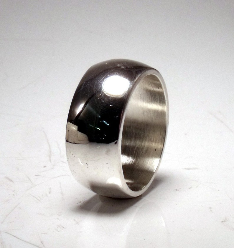11mm Sterling Silver Low Dome Band RF401 image 0