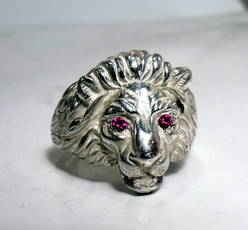 Lion Ring in Sterling Silver RF553 image 0