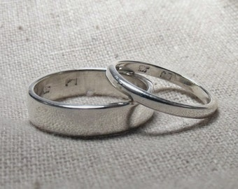 5mm Flat and 2mm Flat Sterling Bands RF593