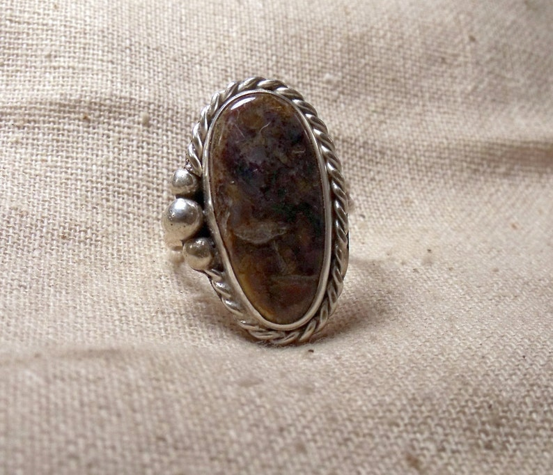 Sterling Silver Ring with Pietersite Stone  RF550 image 0