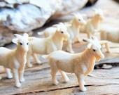 GOAT MINIATURE Farm Animals Figurine Figures Donkey Horse Sheep Dollhouse 1 12 Fairy Garden Diorama Terrarium Supply MICRO Mini Tiny Small