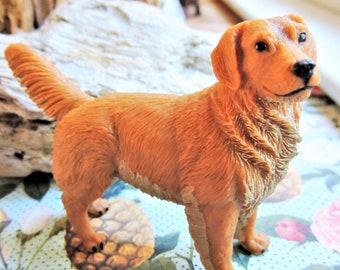 DOG FIGURINE For Wedding Cake Topper Large MINIATURE Golden Retriever Animals Figure Dog Eating Cake Diorama Supply Plastic Model Safari Ltd