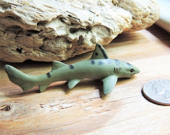 SHARK MINIATURE LEOPARD Sharks Animal Figurines Figures Dollhouse Fairy Garden Diorama Terrarium Supply Mini Sea Creature Miniatures Toy