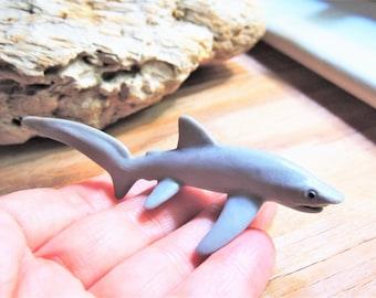 SHARK MINIATURE Thresher Sharks Animal Figurines Figures Dollhouse Fairy Garden Diorama Terrarium Supply Mini Sea Creature Miniatures Toy