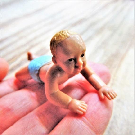 Miniature Crawling Baby Figurine Person Plastic Figure Fairy Etsy