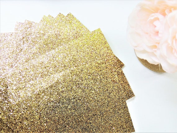 50 Gold GLITTER SHEETS Cardstock Paper DIY Wedding Birthday Invitations Table Number Card Blank Invites Cards