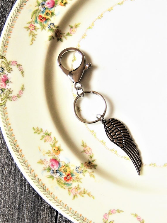 KEYCHAIN Key Chain For Women Guardian Angel Wing Remembrance  300a1145b