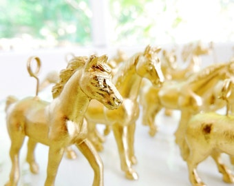 Horse PLACE CARD HOLDER Gold Silver Wedding Animal Placecard Holders Place Settings Wire Magnet Slit Horses Party Animal Table Decorations