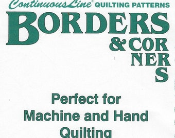 Borders & Corners Continuous Line Quilting Patterns 5 Sheets Hari Walner ©1997 Made in USA OOP Uncut