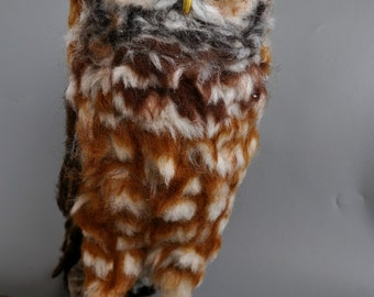 Needle Felted  Owl. Mexican spotted owl.