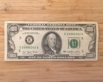Hundred dollar bill | Etsy
