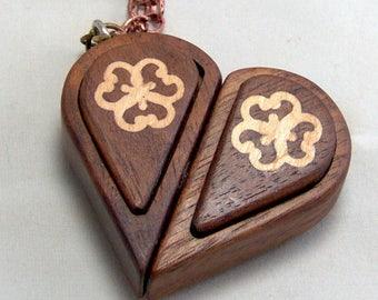 Butterfly flower white oak illusionist locket pendant walnut illusionist locket aloadofball Gallery