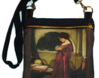 The Crystal Ball. 1902 canvas-linen cotton hipster and tablet bag. Custom Print made to order