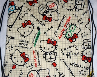 Kokka Math Kitty Backpack/tote