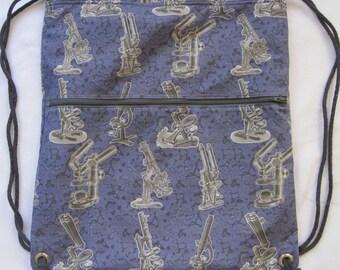 Microscope Mania Backpack/toteCustom Print made to order