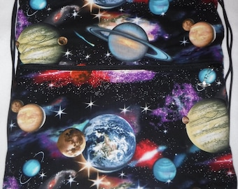 Planets in Space: Backpack/tote or cross body/shoulder bag