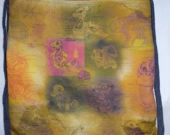 Pokemon Anatomy Lesson Cotton-Linen Canvas Custom Print Backpack/tote