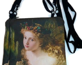 Thus Your Fairy's Made of Most Beautiful Things - Cotton twill cross body bag/purse hipster Custom Print
