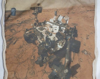 Guess Who the rover found on Mars?  Backpack/tote, Curiosity Rover Custom Print