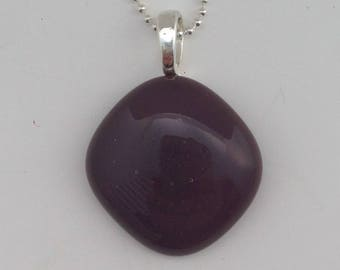 Purple Mini Fused Glass Pendant