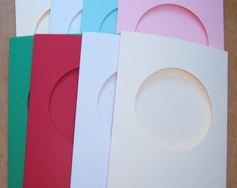 Greeting cards blank etsy card blanks 5 round aperture cards greeting cards blanks with 5 white envelopes aperture cards 8 x 6 assorted colors m4hsunfo