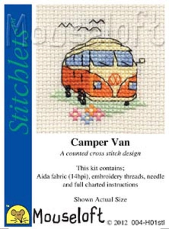 Colourful Feathers Stitchlets Collection Mouseloft Mini Cross Stitch Kit
