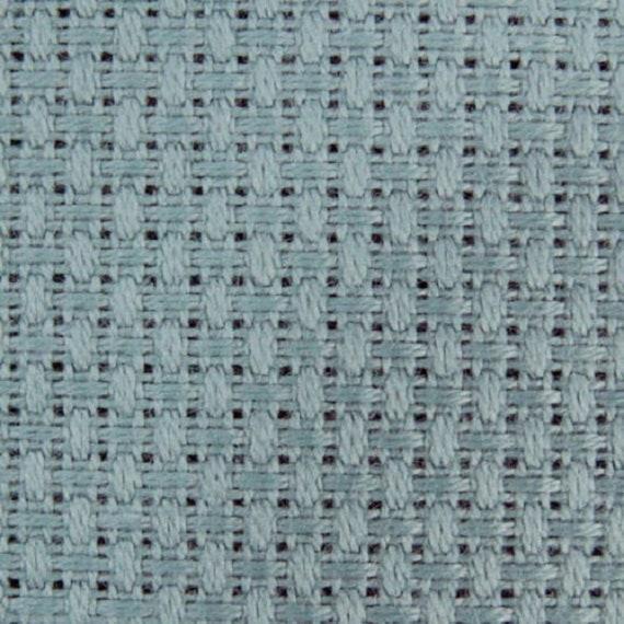 Zweigart Light Blue 18 count Aida fabric 50 x 110 cm