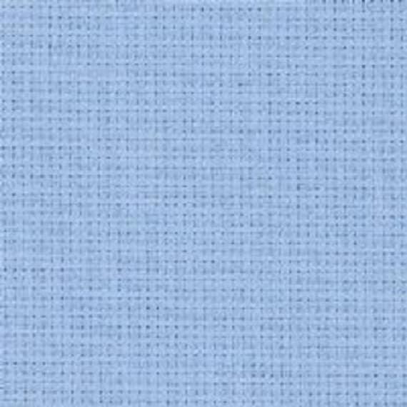 Zweigart Light Blue 18 count Aida fabric 100 x 110 cm