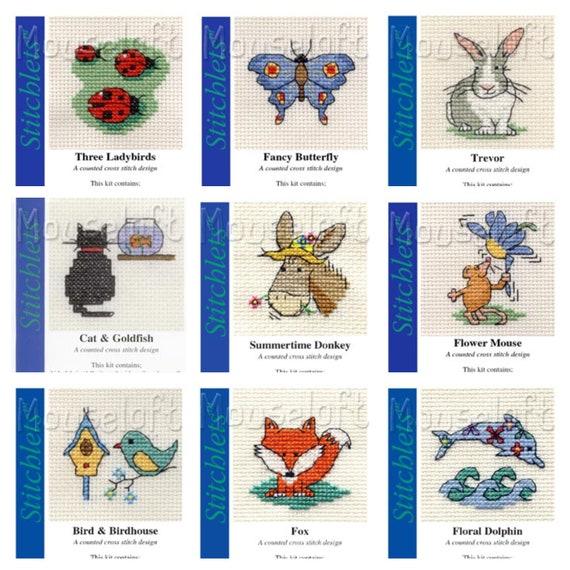 2 x CARDS /& ENVELOPES FOR MOUSELOFT STITCHLETS 3½/'/' x 4½/'/' BLUE