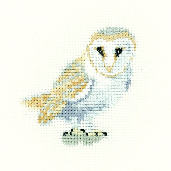 Mouseloft Mini Cross Stitch Kit Old Ollie Owl In The Woods Collection