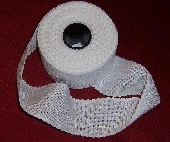 Cream Aida Band 5cm//2 Inch With a Scalloped Edging Zweigart 1 Metre Ivory