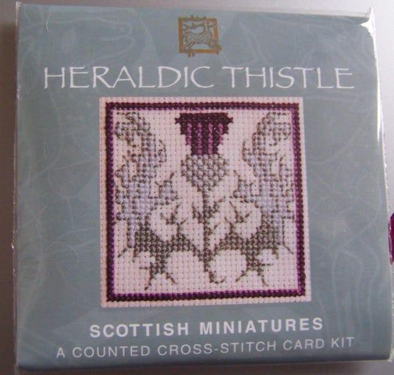 Scotties /& Westies Bookmark puntada cruzada Kit por herencia textil