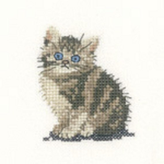 Cross stitch chart-KIT TABBY KITTEN