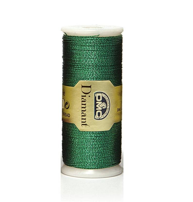 DMC Diamant Metallic Embroidery Thread- 1 spool- 3 colours metallic thread green bronze thread embroidery thread sewing thread pink
