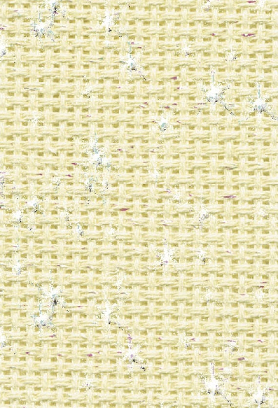 Zweigart cream Easy Count 14 count Aida  50cm x 110 cm with grid lines