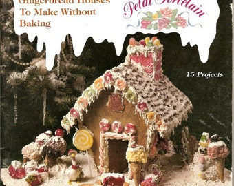 Gingerbread village etsy gingerbread village how to make houses no bake designs christmas gingerbread patterns full size templates 15 projects vintage booklet maxwellsz