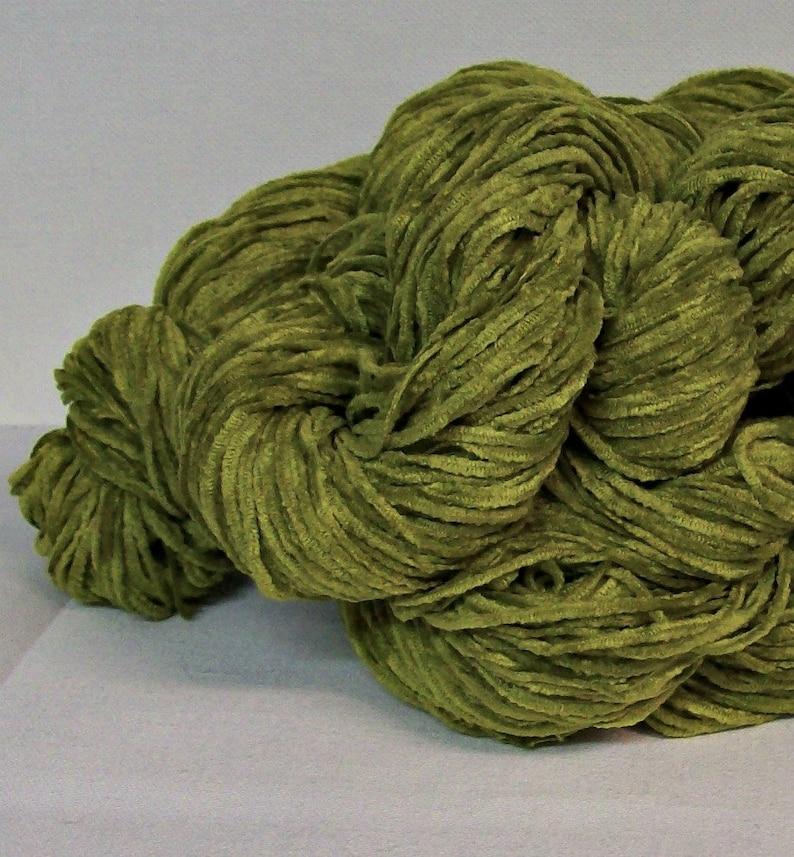 The Zippy Lime Green Chenille Yarn Soft Chenille Yarn