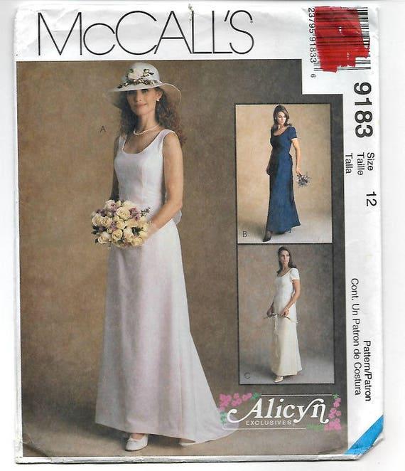 Size 12 Wedding Dress Pattern Simple Elegant Design Smooth   Etsy