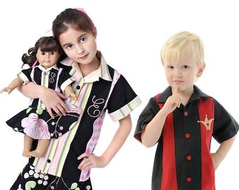 Kids Retro Bowling Shirt, Sewing Pattern PDF E-Book by the Scientific Seamstress