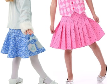 Kids Skirt Pattern with Skort and Pleated, Ruffled, and Circle options, PDF Sewing Pattern - by Scientific Seamstress