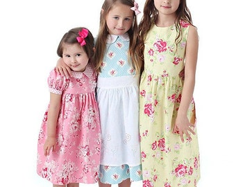 kids dress pattern - Precious Dresses, Classic Bodice Style, Boutique Sewing Pattern PDF E-Book by Scientific Seamstress