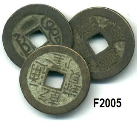 Antike I Ching Münzen Aus Bali Echten Münzen Brokat Etsy