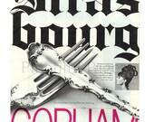 1966 Gorham Sterling Vintage Ad, 1960 39 s Housewares, Strasbourg Sterling, 1960 39 s Hair Style, 1960 39 s Silverware, Advertising Art, Sterling.