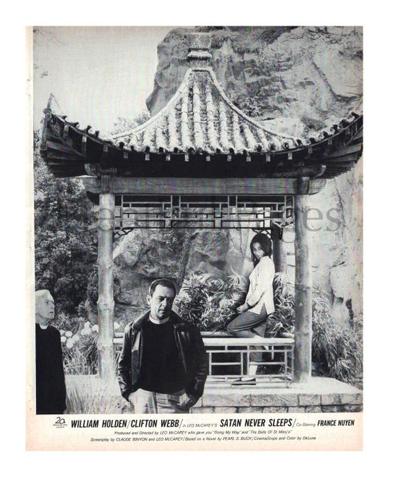 1962 Vintage Movie Ad Satan Never Sleeps William