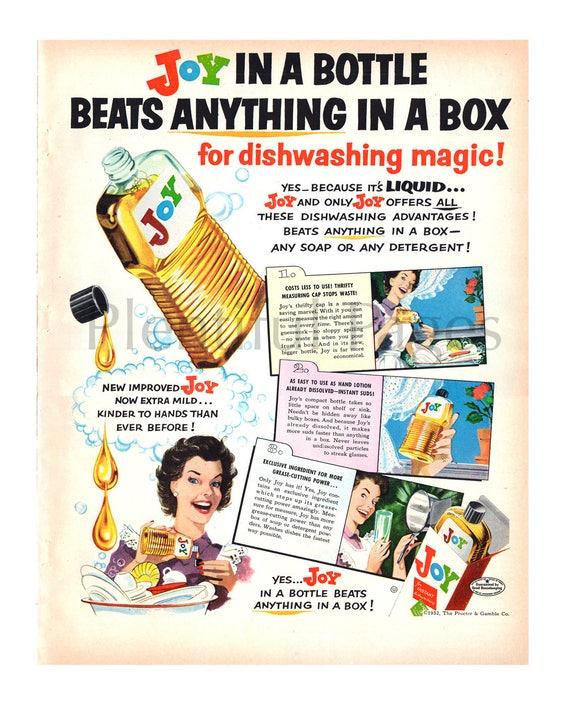 1952 Freude Geschirrspülmittel Flüssigkeit Weinleseanzeige Etsy
