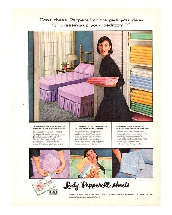 1956 Lady Pepperell Blatt Weinleseanzeige 50er Jahre Etsy