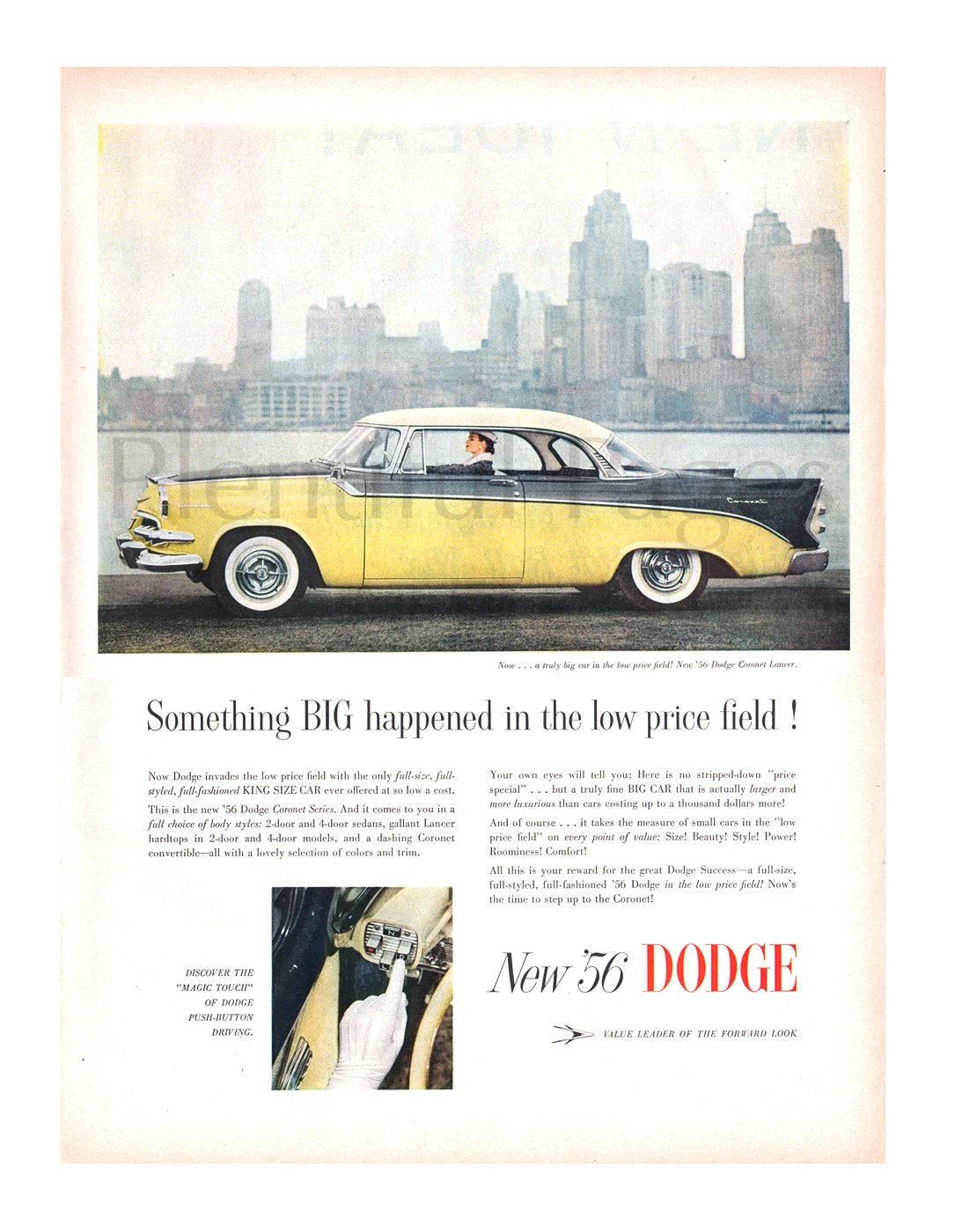 1956 Dodge Vintage Ad Coronet Lancer Car Etsy 1949 2 Door Zoom